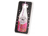 Husa TPU OEM Liquid Glitter Unicorn pentru Samsung Galaxy J4 J400, Multicolor, Bulk