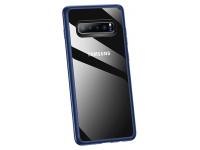 Husa Plastic Usams Mant pentru Samsung Galaxy S10+ G975, Albastra - Transparenta, Blister