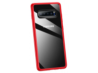 Husa Plastic Usams Mant pentru Samsung Galaxy S10+ G975, Rosie - Transparenta, Blister