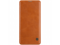 Husa Piele Nillkin Qin Book pentru Samsung Galaxy S10+ G975, Maro, Blister