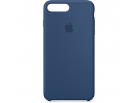Husa Apple Pure Silicone Apple iPhone 8 Plus, Bleumarin, Blister MQH02ZM/A