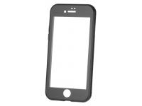 Husa Aluminiu OEM cu protectie full din sticla securizata pentru Apple iPhone 6 / Apple iPhone 6s, Neagra, Bulk