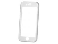 Husa Aluminiu OEM cu protectie full din sticla securizata pentru Apple iPhone 7 / Apple iPhone 8, Argintie, Bulk