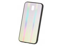 Husa TPU OEM Rainbow cu spate din sticla pentru Samsung Galaxy J6 J600, Multicolor, Bulk