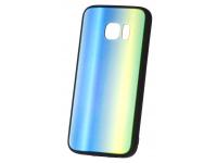 Husa TPU OEM Rainbow2 cu spate din sticla pentru Samsung Galaxy S7 G930, Multicolor, Bulk