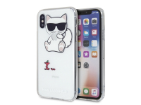 Husa Plastic Karl Lagerfeld Choupette Fun Apple pentru Apple iPhone X / Apple iPhone XS, Transparenta, Blister KLHCPXCFA