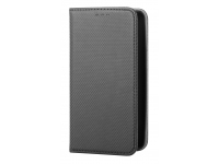 Husa Piele OEM Smart Magnet pentru Sony Xperia L3, Neagra