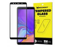 Folie Protectie Ecran WZK pentru Samsung Galaxy A7 (2018) A750, Sticla securizata, Full Face, Full Glue, Neagra, Blister