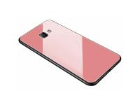 Husa TPU OEM cu spate din sticla pentru Samsung Galaxy A7 (2018) A750, Roz, Bulk