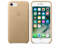 Husa Piele Apple Tan Apple iPhone 7 / Apple iPhone 8, Aurie, Blister MMY72ZM/A