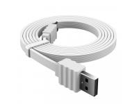 Cablu Date si Incarcare USB la USB Type-C DEVIA Flat, 1 m, Alb, Blister