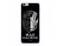 Husa TPU Marvel War Machine Luxury Chrome (001) pentru Apple iPhone 7 / Apple iPhone 8, Argintie, Blister
