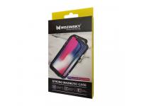 Husa Aluminiu WZK Magnetic Frame Hybrid cu spate din sticla pentru Samsung Galaxy S9 G960, Neagra, Blister