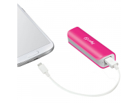 Baterie Externa Powerbank Celly PB2600PK 2600 mA, 1 x USB, Roz, Blister