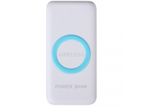 Baterie Externa Powerbank Star W200 12000 mA, 2 x USB - Wireless, Alba, Blister 162609