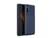 Husa TPU OEM Carbon Fiber pentru Huawei P30, Bleumarin, Bulk