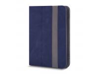 Husa Piele GreenGo Fantasia pentru Tableta 10 inci, Dimensiuni interioare 265 x 195 mm, Bleumarin, Bulk