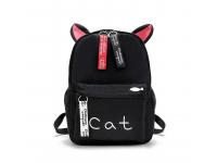 Rucsac textil OEM Cat Ears Negru