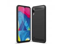 Husa TPU OEM Carbon pentru Samsung Galaxy M10, Neagra, Bulk