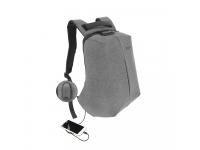 Rucsac textil Tellur Antifurt V2, cu port USB pentru Laptop,15.6 inci, Gri TLL611232