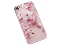 Husa TPU OEM Embossed Peach Blossom pentru Apple iPhone 7 / Apple iPhone 8, Multicolor, Bulk