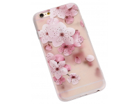 Husa TPU OEM Embossed Peach Blossom pentru Apple iPhone 6 / Apple iPhone 6s, Multicolor, Bulk