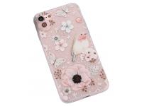 Husa TPU OEM Flower and Bird pentru Apple iPhone 7 / Apple iPhone 8, Multicolor, Bulk