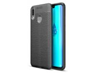 Husa TPU OEM Litchi pentru Huawei Y9 (2019), Neagra, Bulk