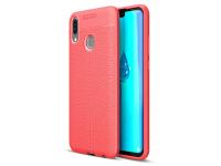 Husa TPU OEM Litchi pentru Huawei Y9 (2019), Rosie, Bulk