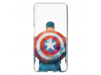 Husa TPU Marvel Captain America 002 pentru Samsung Galaxy A7 (2018) A750, Transparenta, Blister