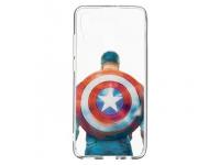 Husa TPU Marvel Captain America 002 pentru Huawei P Smart (2019), Transparenta, Blister