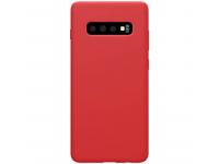 Husa TPU Nillkin Pure Silicone pentru Samsung Galaxy S10+ G975, Rosie, Blister