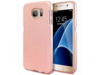Husa TPU Goospery Mercury I-Jelly pentru Samsung Galaxy A7 (2018) A750, Roz Aurie, Blister