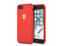 Husa TPU Ferrari pentru Apple iPhone 7 / Apple iPhone 8, Rosie, Blister FESSIHCI8RE