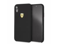 Husa TPU Ferrari pentru Apple iPhone XR, Neagra, Blister FESSIHCI61BK