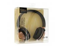 Handsfree Casti On-Ear Gjby GJ-18, Cu  microfon, 3.5 mm, Negru, Blister