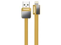 Cablu Date si Incarcare USB la Lightning Remax Platinium Metal RC-044i, 1 m, Auriu, Blister