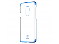Husa Plastic Baseus Glitter Electro pentru Samsung Galaxy S9+ G965, Albastra - Transparenta, Blister WISAS9P-DW03