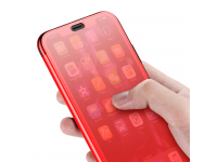 Husa Baseus Touchable cu protectie full din sticla securizata pentru Apple iPhone XR, Rosie, Blister WIAPIPH61-TS09