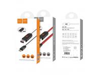 Cablu Date si Incarcare USB la Lightning HOCO U29 cu afisaj LED, 1m, Alb, Blister