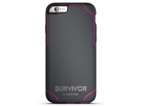 Husa TPU Griffin Survivor Journey pentru Apple iPhone 6 / Apple iPhone 6s, Gri - Roz, Blister GB41560