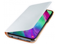 Husa Textil Samsung  Galaxy A40 A405, Wallet, Alba EF-EF-WA405PWEGWW