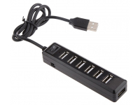 Hub USB 2.0, 7 porturi , Negru