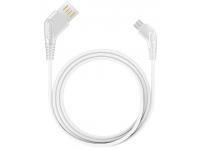 Cablu Date si Incarcare USB la MicroUSB Earldom EC-026M, 1 m, Alb, Blister