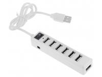 Hub USB 2.0, 7 porturi , Alb