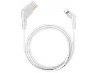 Cablu Date si Incarcare USB la Lightning Earldom EC-026i, 1 m, Alb, Blister