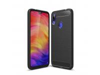 Husa TPU OEM Carbon pentru Xiaomi Redmi Note 7, Neagra, Bulk