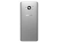 Capac Baterie Argintiu cu geam camera blitz si senzor amprenta, Swap Samsung Galaxy S8+ G955