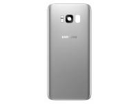 Capac Baterie Argintiu cu geam camera / blitz, Swap Samsung Galaxy S8+ G955