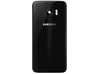 Capac Baterie Negru cu geam camera / blitz, Swap Samsung Galaxy S7 edge G935